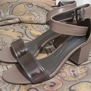 Multitone Sandals with Heel